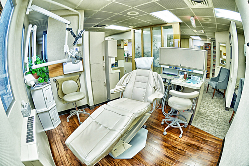 The dental examination room.