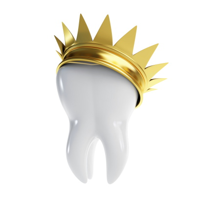 A Molar Tooth Wearing a Crown, Dental Crowns